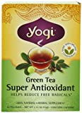 Yogi Green Tea Super Antioxidant, Herbal Tea Supplement, 16-Count Tea Bags (Pack of 6)