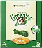 GREENIES Original Canine Dental Chews - Petite Size - Treat TUB-PAK Package (27 oz.) - 45 Count