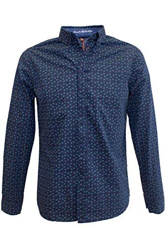 Blend of America -  Camicia Casual  - Con bottoni  - Maniche lunghe  - Uomo Inchiostro India Medium