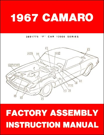 1967 Camaro Factory Assembly Manual (with Decal) (1967 Camaro Restoration compare prices)
