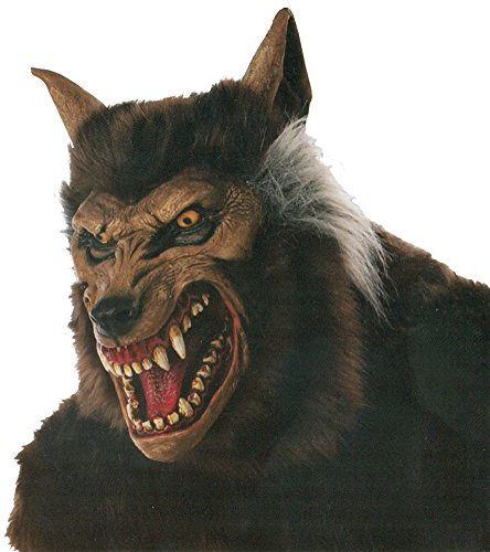 Werewolf Deluxe Mask Halloween Costume - Most Adults