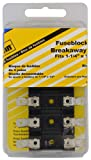 Bussmann (BP/S-8202-4-RP) 20 Amp Carded Two-Pole Fuse Block with 1/4