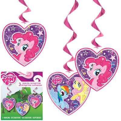 3 MY LITTLE PONY SWIRL DECOR