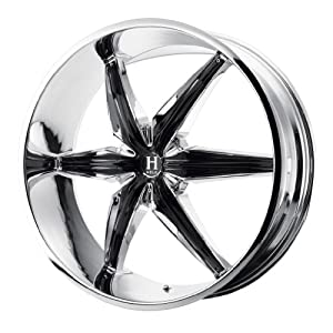 Helo HE866 24×9.5 Chrome Wheel / Rim 5×4.75 & 5×5 with a 35mm Offset and a 78.10 Hub Bore. Partnumber HE86624906235