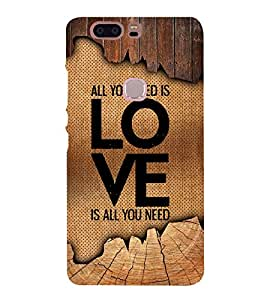 Love Is All You Need 3D Hard Polycarbonate Designer Back Case Cover for Huawei Honor V8