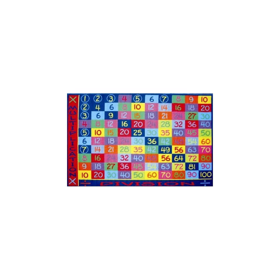 Multiplication Multi Colored Area Rug 8 x 11
