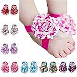 ZHW Baby Girl's Barefoot Sandals Flower  ( Set of 10 )