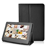 NSSTAR Slim Fit Universal Pu Leather Flip Folio Stand Protection Case Cover For All 7 Inch Android Tablet Specifically designed For Q88 Tablet 8 Color Options (Black) from NSSTAR