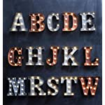 Marquee Metal Letters-Rust -A