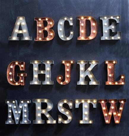 Marquee Metal Letters-Rust -A 0