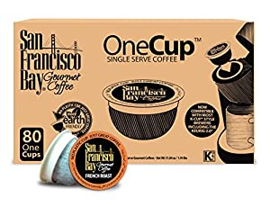 San Francisco Bay OneCup, French Roast, 80 Single Serve Coffees