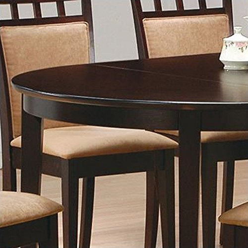 Coaster contemporary oval dining table cappuccino finish for Kitchen set node attributes
