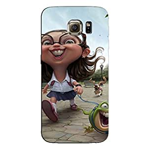 CUTE GIRL BACK COVER FOR SAMSUNG GALAXY S7 EDGE