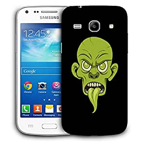 Snoogg Green Face Designer Protective Back Case Cover For Samsung Galaxy Core Plus