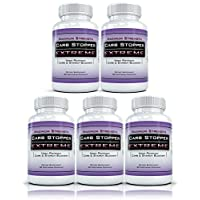 Carb Stopper Extreme (5 Bottles) - Maximum Strength Carbohydrate & Starch Blocker Weight Loss, Diet Supplement with White Kidney Bean Extract
