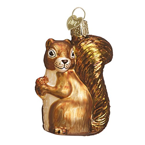 Old World Christmas Squirrel Glass Blown Ornament