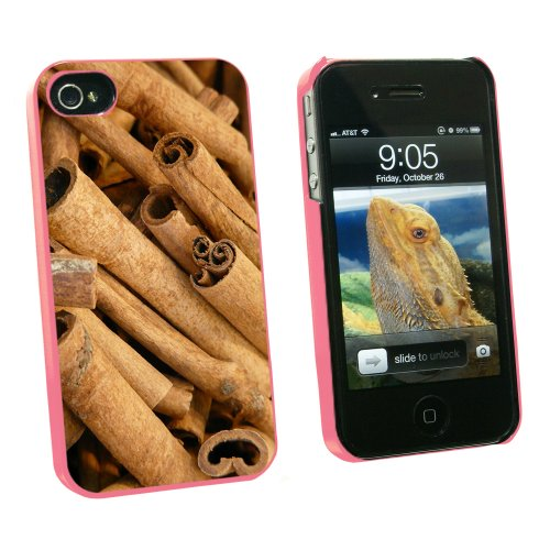 Cinnamon Sticks - Dried Brown Spice - Snap On Hard Protective Case for Apple iPhone 4 4S - Pink