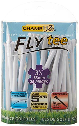 CHAMP Zarma Golf Tees 83mm Fly (25 Pack), weiß
