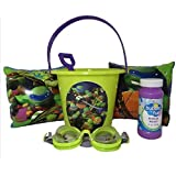 Teenage Mutant Ninja Turtle Water Play Set With Small Bucket,and Shovel, Arm Floats, Goggles, And Bubbles