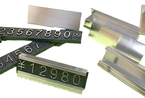 大量 セット 価格 表示 金 の 枠 付き プライス キューブ 文字 数字 商品 展示 アピール に ブラック ゴールド (j 銀 50個)