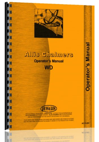 Allis Chalmers Wd Tractor Operators Manual