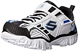 Skechers Kids Star Wars Damager III Hypernova Light-Up Sneaker (Toddler), White/Black, 8 M US Toddler