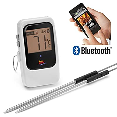 Maverick ET7-35 Bluetooth 4.0 Wireless Digital Cooking Thermometer - Monitor up to 4 Probes Simultaneously - Compatible with All iOS & Android Phones and Tablets - Great for BBQ, Smoker, Grill, Oven, Meat and Food