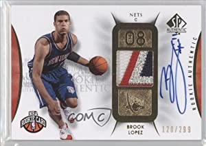Brook Lopez JSY AU 299 RC (Rookie Card) #120 299 New Jersey Nets (Basketball Card)... by SP Authentic