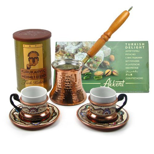 Turkish Coffee Set For Two By Turkish Coffee World With Turkish Delight And Turkish Coffee