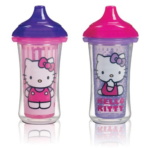 Munchkin Hello Kitty Click Lock 2 Count Insulated Sippy Cup, 9 Ounce Gift, Baby, Newborn, Child front-480467