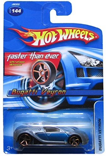 hot wheels 2006 144 bugatti veyron blue silver fte faster than ever 1 64 scale gold 5sp wheels. Black Bedroom Furniture Sets. Home Design Ideas