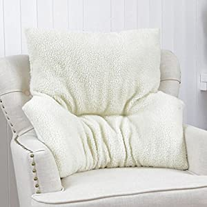 Armchair Fleece Back Rest Lumbar Support Aid Cushion ...