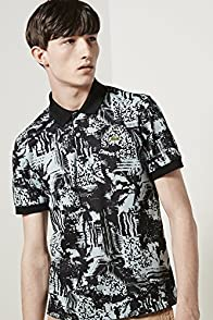L!ve All Over Distortion Graphic Pique Polo Shirt