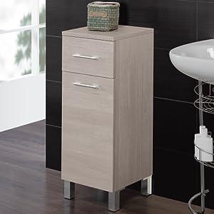 Mobile bagno un anta ed un cassetto mobiletto arredo design moderno ...
