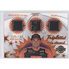 Tony Stewart #5 190 (Trading Card) 2005 Wheels American Thunder Triple Hat #TH 23 by Wheels