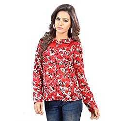 SFDS Women's Polyester Red Shirt(T-336-Small)
