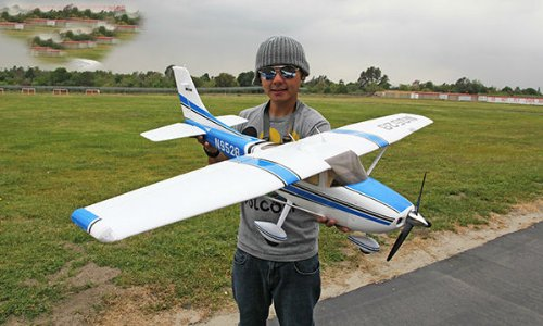 New Super Scale 6 CH BlitzRCWorks 2.4GHz Blue Flight Trainer Master Pro Radio Remote Control Electric RC Airplane RTF w/ EPO Durability + With Flaps + Super Performance - WITH FLOAT PATOON - SEAPLANE COLOR IS RED OR BLUE SENT AT RANDOM