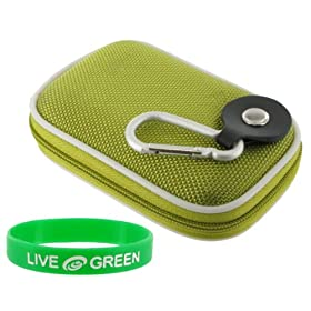Nylon Hard Shell Carrying Case (Green) &#102;&#111;&#114; <A href=