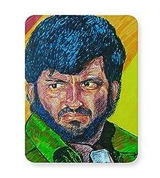 PosterGuy Mouse Pad - Gabbar Gabbar Singh, Sholay, Pen art, Brush Pen art, Color, Bollywood, Villian