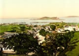 Vintage British Isles Photography IRELAND, DUBLIN IN COUNTY DUBLIN c1890-1900 Howth and Ireland's Eye Reproduction Print on 200gsm A3 Satin Art Card