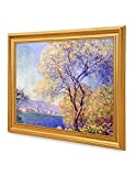 DecorArts - Antibes Seen From the Salis Gardens, Claude Monet Art Reproduction. Giclee Print& Museum Quality Framed Art for Wall Decor.