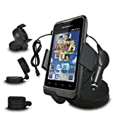 Fone-Case Motorola MOTOSMART In Car Mini 360 Rotating Windscreen Cradle Mount Mobile Phone Holder With 12V Micro USB In Car Charger