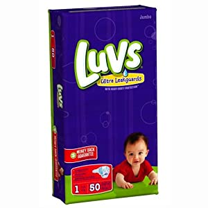Luvs Ultra Leakguards - Jumbo Pack Size 1, 50-Count (Pack of 2)