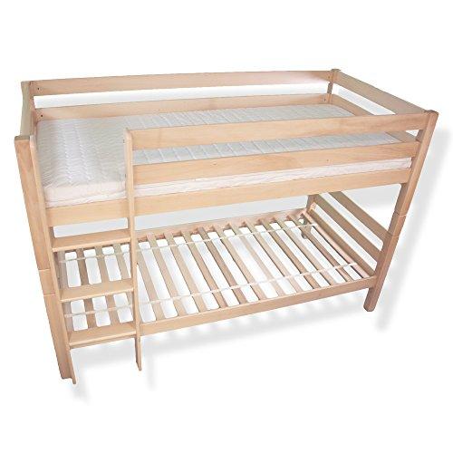 Betten abc kinder etagenbett hochbett natur buche for Billige einzelbetten