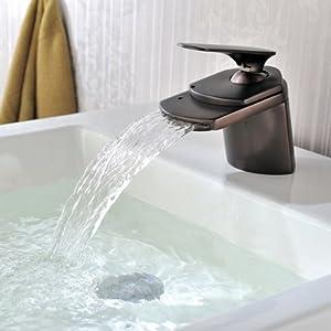 Usongs Antique & Modish Wide Flat Spout Basin Sink Faucet