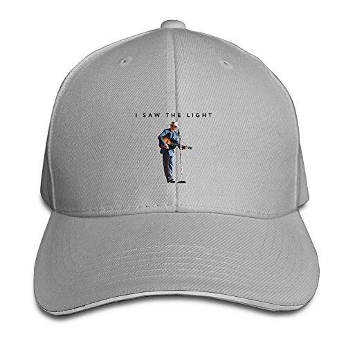 101dog I Saw The Light Movie Poster Unisex Adjustable Sandwich Hunting Peak Hat & Cap Ash