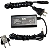 HQRP AC Adapter / Power Supply for Canon PowerShot S3 IS / S3IS , PowerShot S5 IS / S5IS Digital Camera - with USA Cord & Euro Plug Adapter (Desk Style)