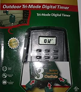 Westinghouse Outdoor Tri-Mode 3-Outlet Digital Photocell Timer