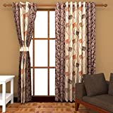 Ab home decor Polyester Door Curtains (Set of 2)- 7 Feet x 4 Feet,Coffee