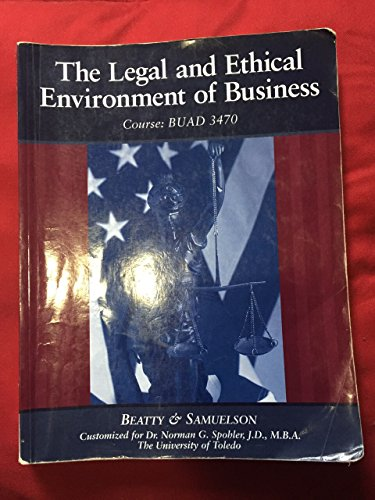 The Legal and Ethical Environment of Business (BUAD 3470)